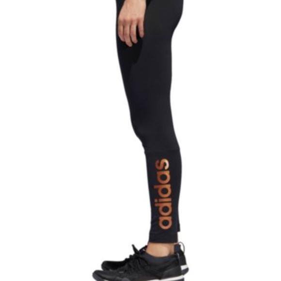 f07199d8064b4 adidas Pants   Womens Linear Leggings Black   Poshmark
